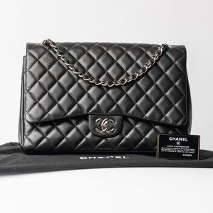 CHANEL Classic Quilted Lambskin Maxi Double